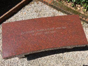 Bench by Jenny Holzer, at the Peggy Guggenheim Museum, Venice, Italy